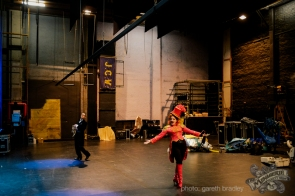 Rachel Rouge backstage at the Opera House - photo by Gareth Bradley