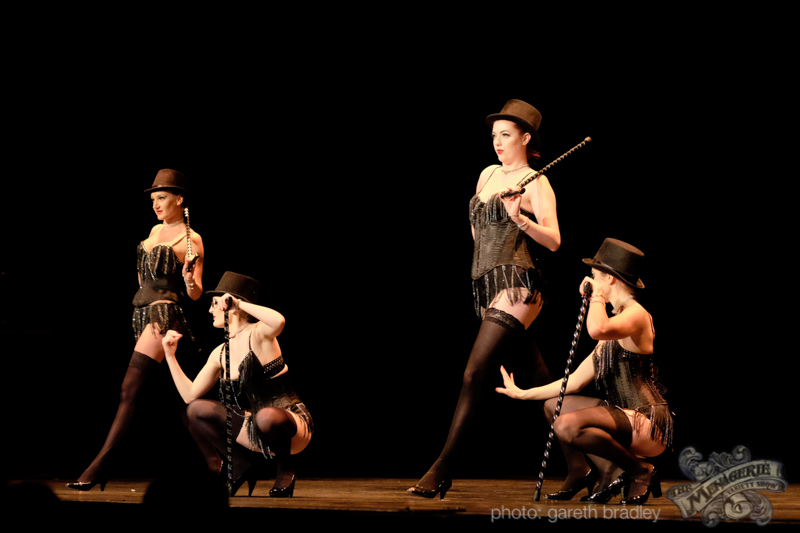 Venus Starr's School of Burlesque Students - photo by Gareth Bradley