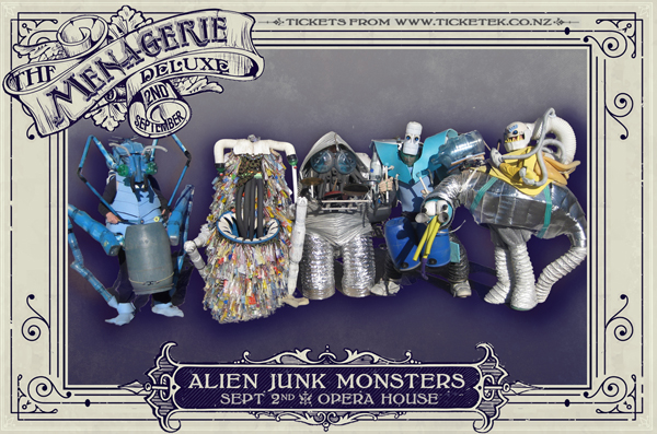 Alien Junk Monsters - The Menagerie Deluxe 2017, Wellington Opera House, 2nd September