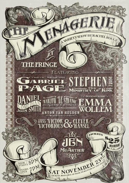 Menagerie November 2013 Poster
