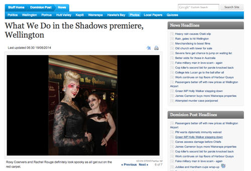 Rachel & Roxy at What We Do In The Shadows Wellington Premiere