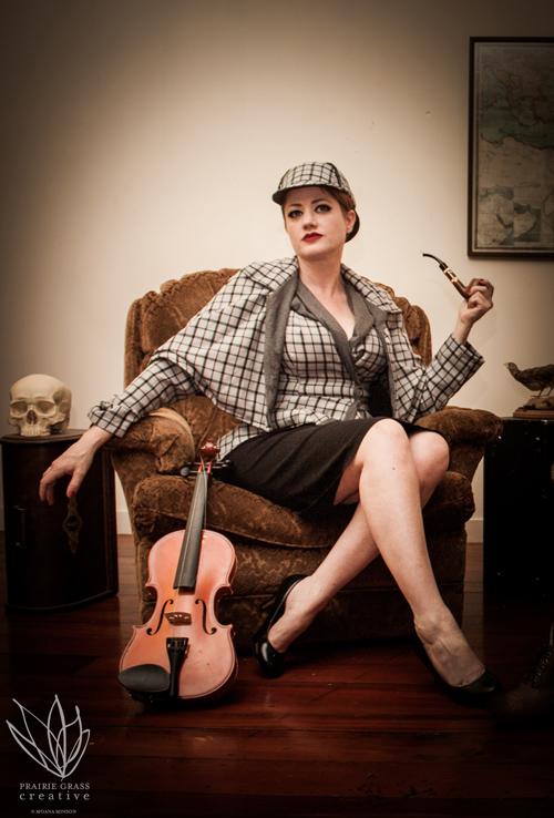 Rachel as Sherlock Holmes