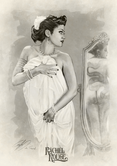 Rachel Rouge drawn by Carlos de Treend