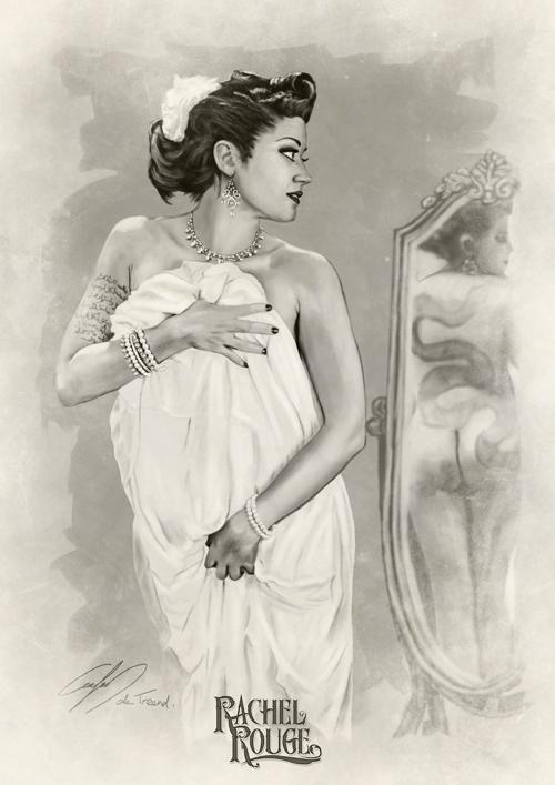 Rachel Rouge drawn by Carlos de Treend