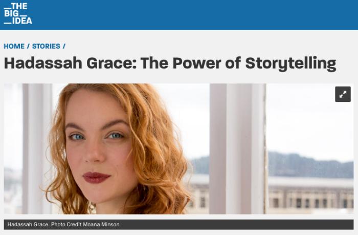 Hadassah Grace in The Big Idea