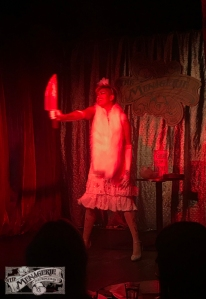 Queeny Ives at The Menagerie Variety Show Wellington New Zealand