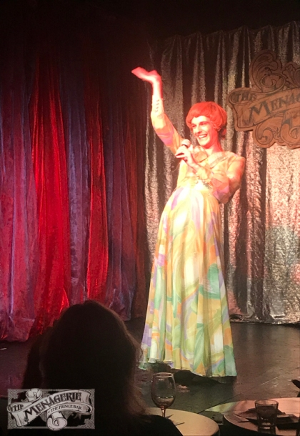 Pamela Hancock at The Menagerie Variety Show Wellington New Zealand