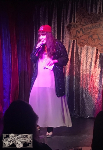 Margot von Dont at The Menagerie Variety Show Wellington New Zealand