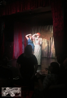 Brielle Williams and Pamela Hancock at The Menagerie Variety Show Wellington New Zealand