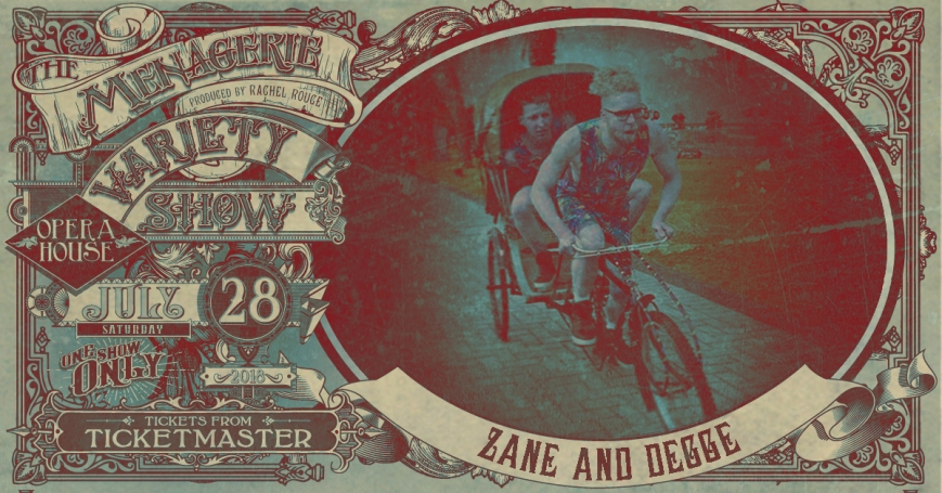 Zane and Degge, The Menagerie Variety Show Wellington Opera House 28th July 2018
