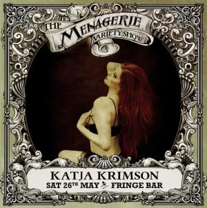 Katja Krimson - Burlesque performer, The Menagerie Variety Show Wellington New Zealand