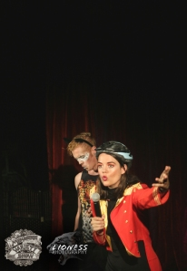 MC Maria Williams and Victor Victorious at The Menagerie Variety Show Wellington New Zealand
