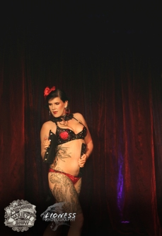 Lilith LaLune at The Menagerie Variety Show Wellington New Zealand