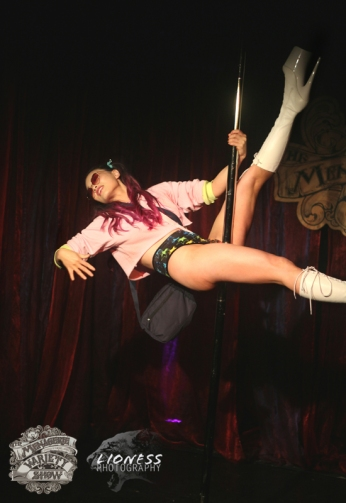 Tian Gan at The Menagerie Variety Show Wellington New Zealand