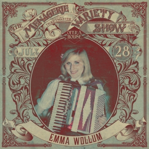 Emma Wollum - Amusing accordionist - at Wellington Opera House, 28th July 2018 - Variety Show