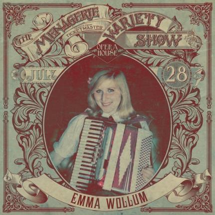 Emma Wollum - Amusing accordionist - at Wellington Opera House, 28th July 2018 - Variety Show
