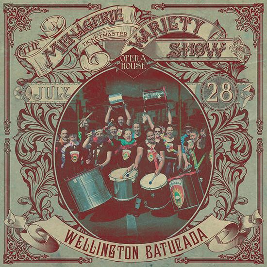 Wellington Batucada – Samba band - at Wellington Opera House, 28th July 2018