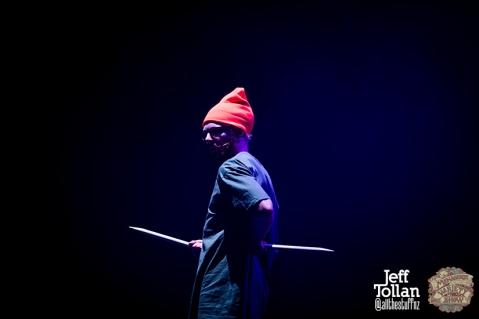 Degge from Laser Kiwi, The Menagerie Variety Show, Wellington Opera House, July 2018