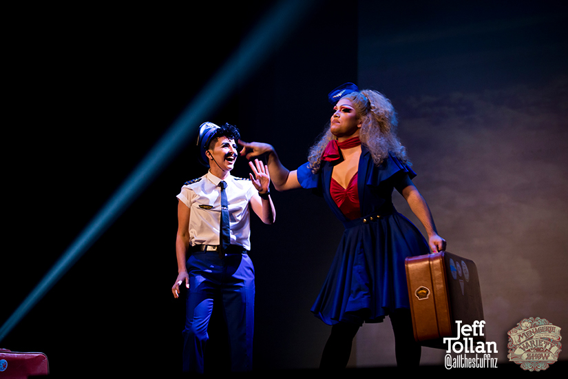 Hugo Grrrl and Eve Envy, The Menagerie Variety Show, Wellington Opera House, July 2018