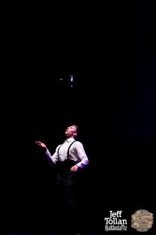 Zane from Laser Kiwi, The Menagerie Variety Show, Wellington Opera House, July 2018