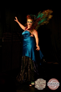 Rachel Rouge, photo by Paradox Photography, Wellington variety show.