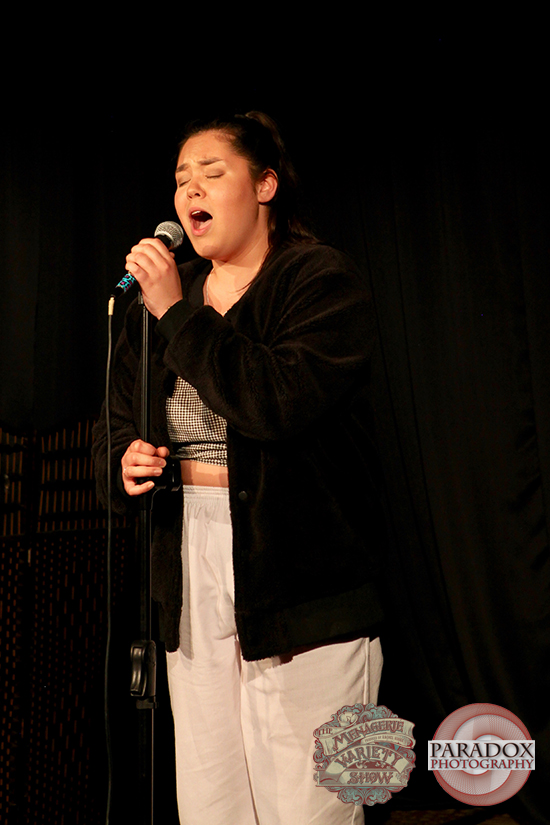 Mia Alonso-Green, photo by Paradox Photography, Wellington variety show.